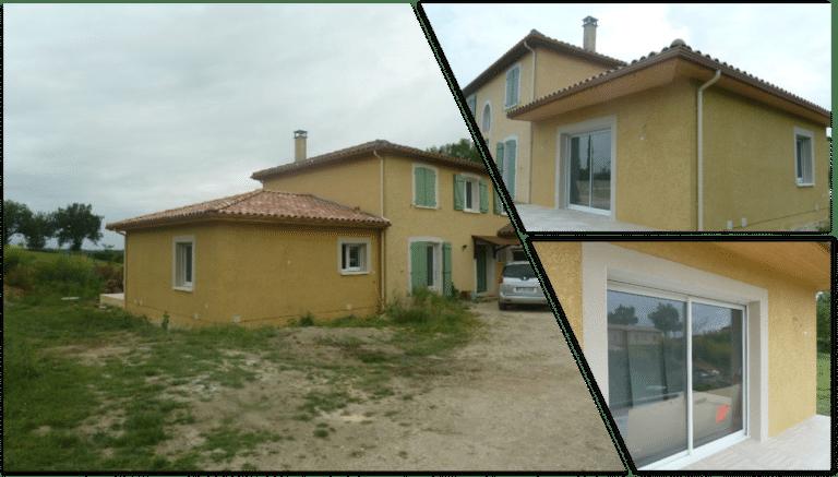 montage maison extension piece