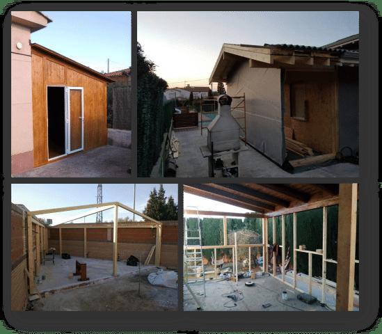 montage extension de maison